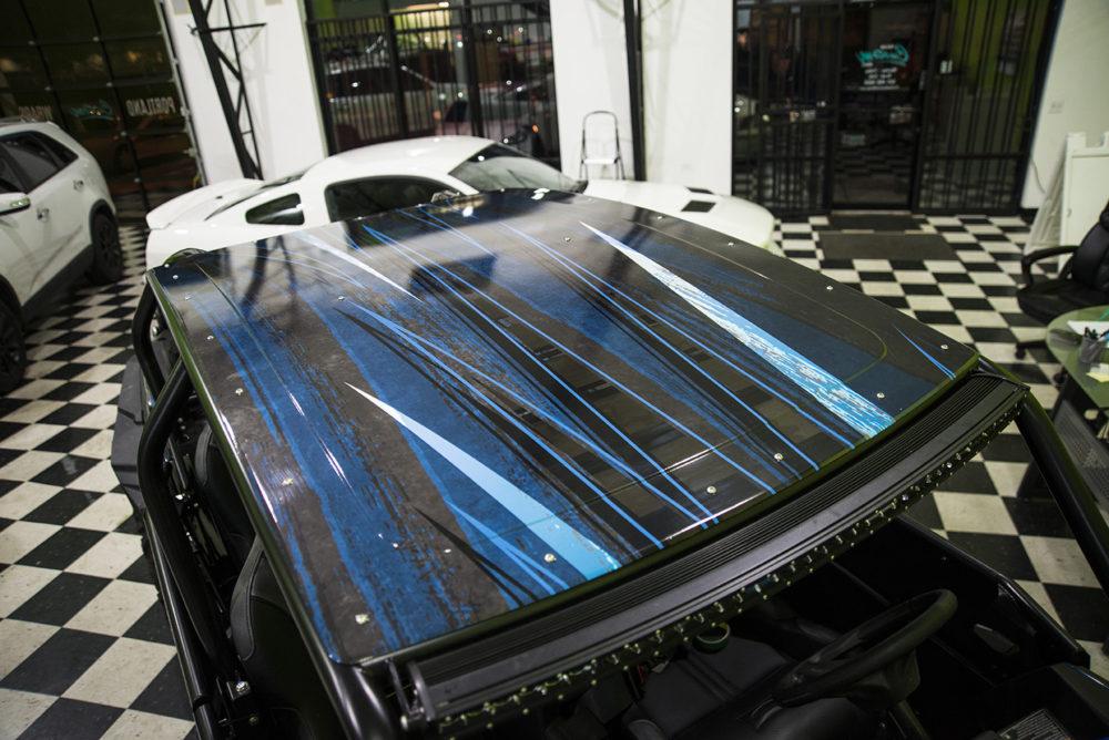 ATV Vinyl wrapped roof
