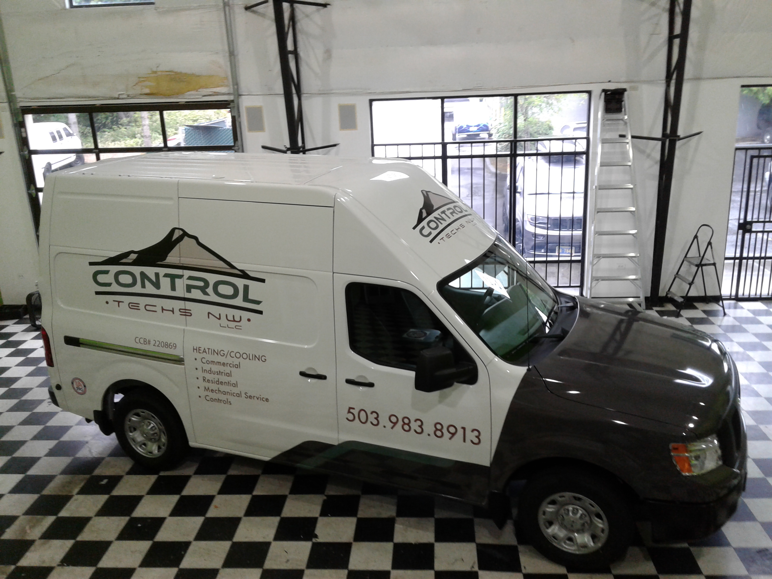 control techs NW work van