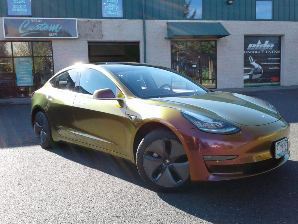 Tesla Model 3 Full Color Change  Portland Custom Wraps ...